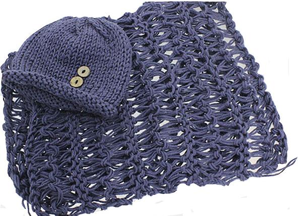 A handmade knit blanket