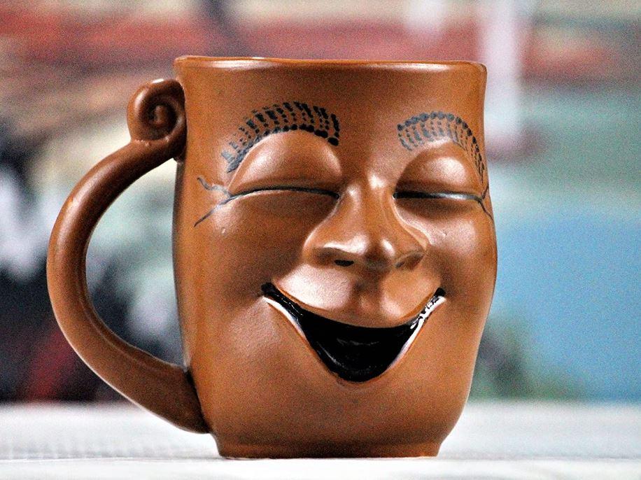 Unique gifts for him - Weird Wolf Joy Coffee Mug