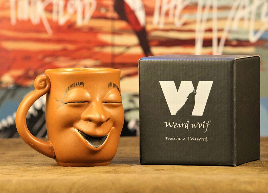 Weird Wolf Joy Coffee Mug, 350 mL, Brown